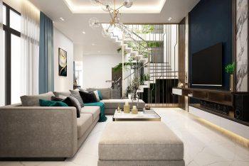 Mẫu thiết kế nội thất biệt thự 3 tầng đẹp hiện đại Ninh Thuận