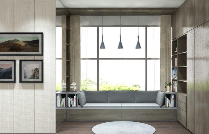 thiết kế nội thất căn hộ penhouse đẹp