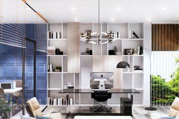 Thiết kế văn phòng 70m2 sàn cho nhà 4 tầng kết hợp ở
