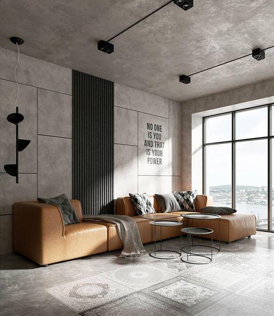phong cách thiết kế nội thất thô mộc Brutalism