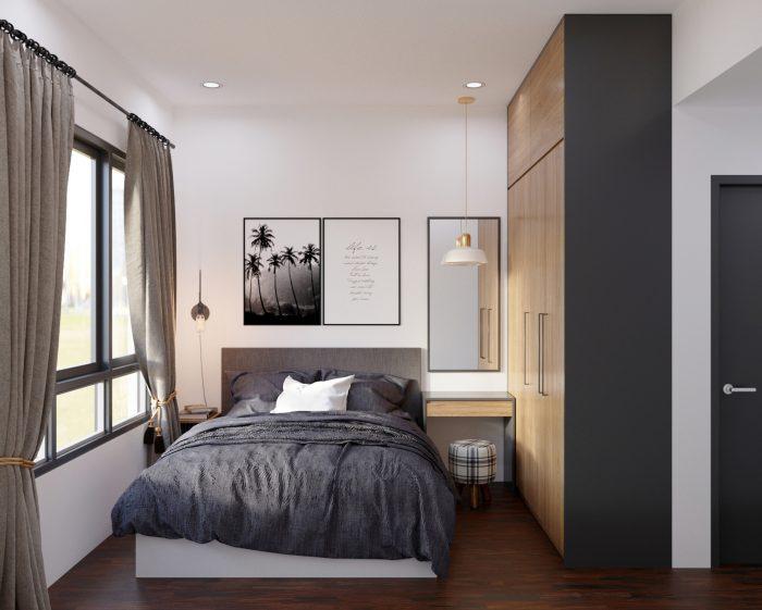 chung cư 2 phòng ngủ 55m2