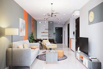 Mẫu thiết kế nội thất căn hộ 2 phòng ngủ đẹp 60m2 – Gò Vấp