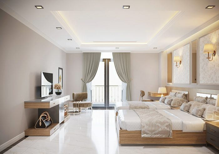 thiết kế nội thất khách sạn 4 sao