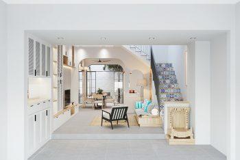 Khám phá nét độc đáo trong thiết kế nội thất nhà phố 4 tầng