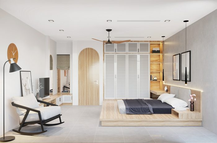 thiết kế nội thất nhà phố 4 tầng