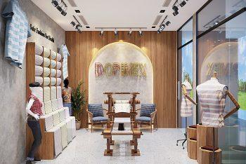 Dự án thiết kế nội thất showroom thời trang DOPIMEX