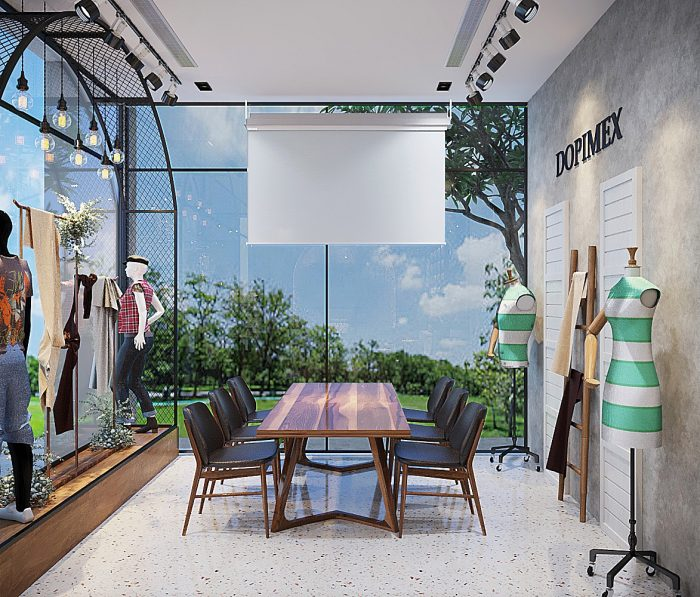 thiết kế nội thất showroom thời trang