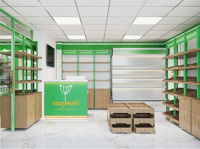 thiết kế showroom EnzymeH