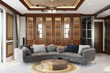 Dự án thiết kế nội thất biệt thự phố 4 tầng đẹp – Him Lam