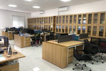 Thiết kế thi công nội thất tòa nhà văn phòng 2 tầng- Office Owen Cabinets