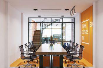 Mẫu thiết kế nội thất tòa nhà văn phòng 3 tầng độc đáo 2021