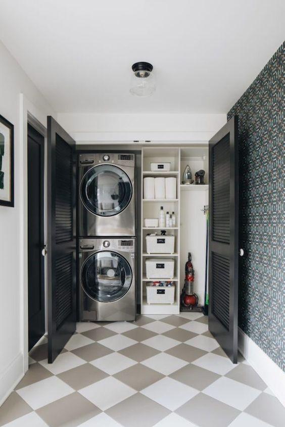 thiết kế phòng giặt phơi đẹp