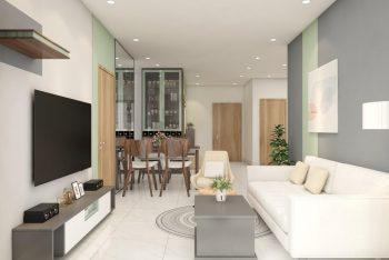 Dự án thiết kế thi công nội thất căn hộ 1 phòng ngủ 55m2