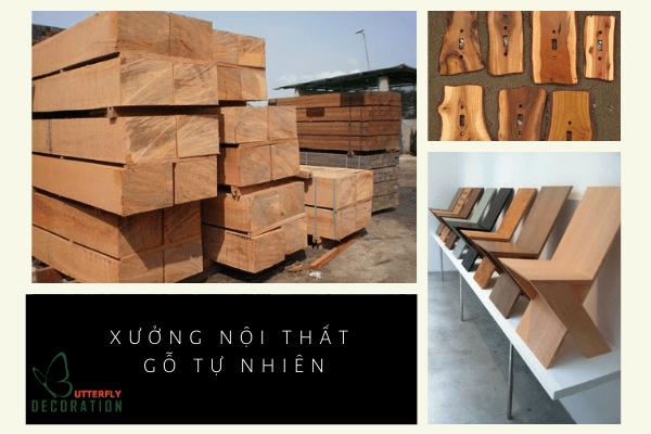 xưởng thi công nội thất gỗ tự nhiên