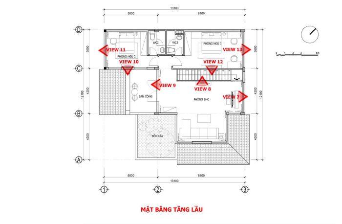 bản vẽ thiết kế nội thất nhà phố