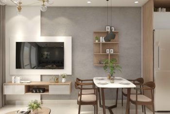 Thiết kế thi công nội thất căn hộ cao cấp 2 phòng ngủ tại HCM