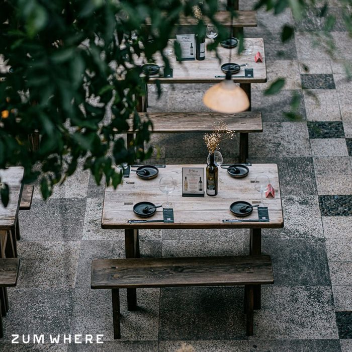 mẫu thiết kế nhà hàng ngoài trời đẹp