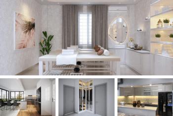 Thiết kế hoàn thiện căn hộ 80m2 kết hợp phòng spa tại nhà