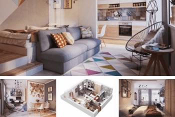 Khám phá mẫu thiết kế căn hộ 40m2 1 phòng ngủ đẹp & hiện đại