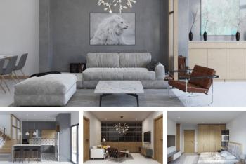 Mẫu thiết kế nội thất nhà phố 60m2 đẹp phong cách Bắc Âu