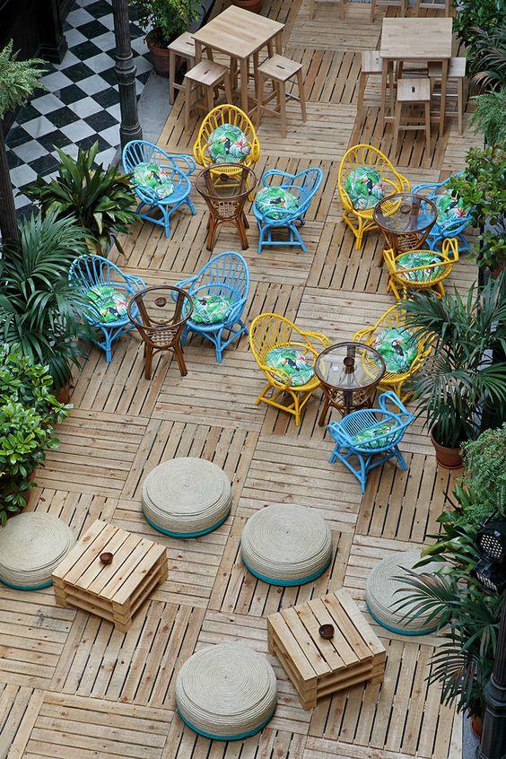 thiết kế quán ăn ngoài trời