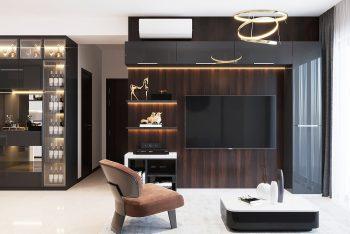 Không gian sống sang trọng trong thiết kế căn hộ 65m2 2 phòng ngủ