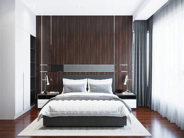 thiết kế căn hộ 65m2 2 phòng ngủ