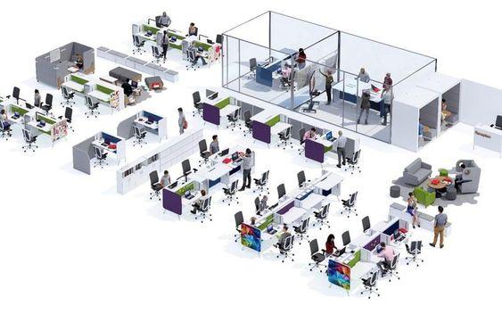 mặt bằng bố trí nội thất văn phòng