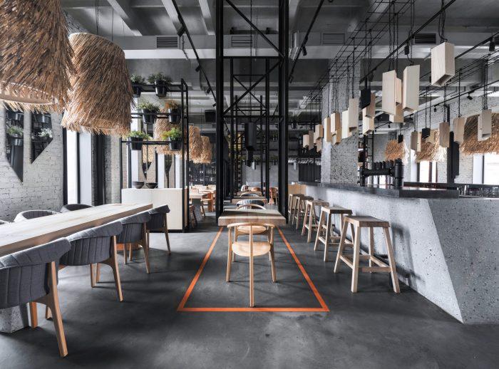 thiết kế nhà hàng phong cách đồng quê