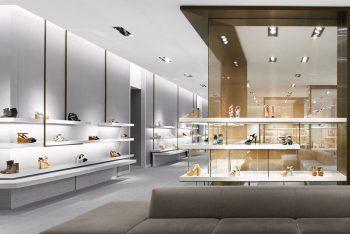 Phong cách thiết kế showroom giày đẹp – 15 mẫu ấn tượng nhất 2021