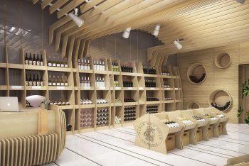15+ Ý tưởng thiết kế showroom rượu đẹp sang trọng 2021